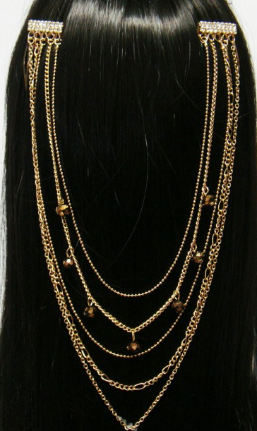 1002 Head Comb Chain GOLD - CLEARANCE