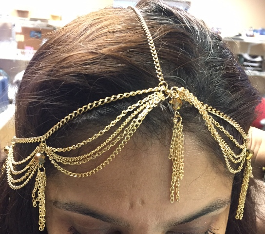 1003 Head Comb Chain GOLD - CLEARANCE