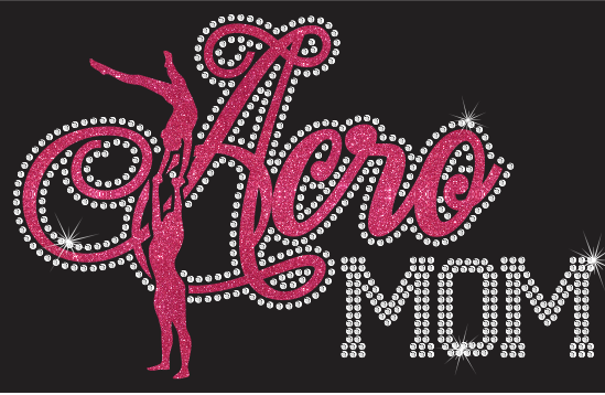Acro Mom New Vinyl and Rhinestone Transfer
