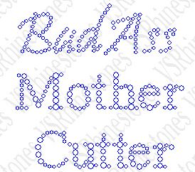 Bad Ass Mother Cutter Rhinestone Transfer - Cap/Koozie Size (2)