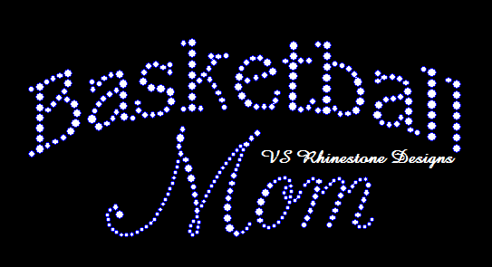 Basketball Mom Script Rhinestone Transfer