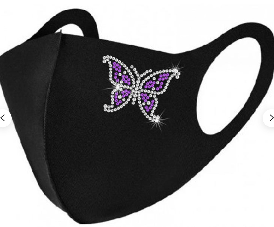 Face Mask - Butterfly Two Tone