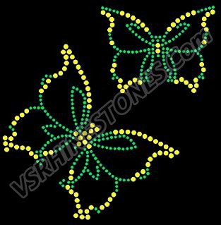 Butterfly - two tone - green and citrine