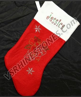 Christmas Bells Stocking Personalization Included