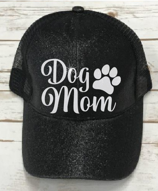 CC Glitter Cap - Dog Mom