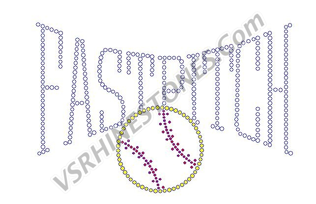 FASTPITCH Softball Rhinestone Transfer