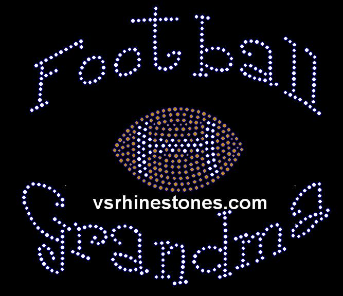 Football Grandma Rhinestone Transfer