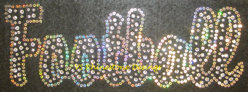 FOOTBALL Rhinestone and Sequin Transfer Combo (12) SELECT COLOR