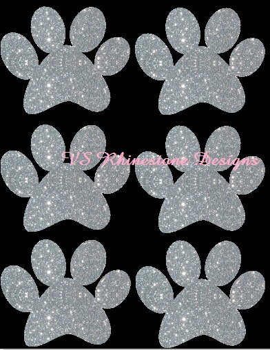 Glitter Body Tattoo Paw - 12 per order