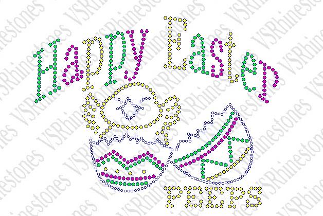 Rhinestone Easter Transfers Happy Easter Peeps Rhinestone