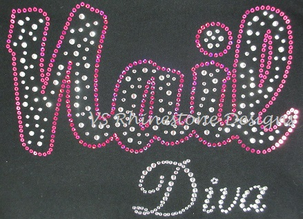 Nail Diva Rhinestone and Sequin Transfer Combo - Hot Pink