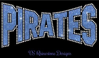 Pirates Arched Vinyl and Rhinestone Transfer