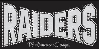 Raiders Arched Vinyl and Rhinestone Transfer