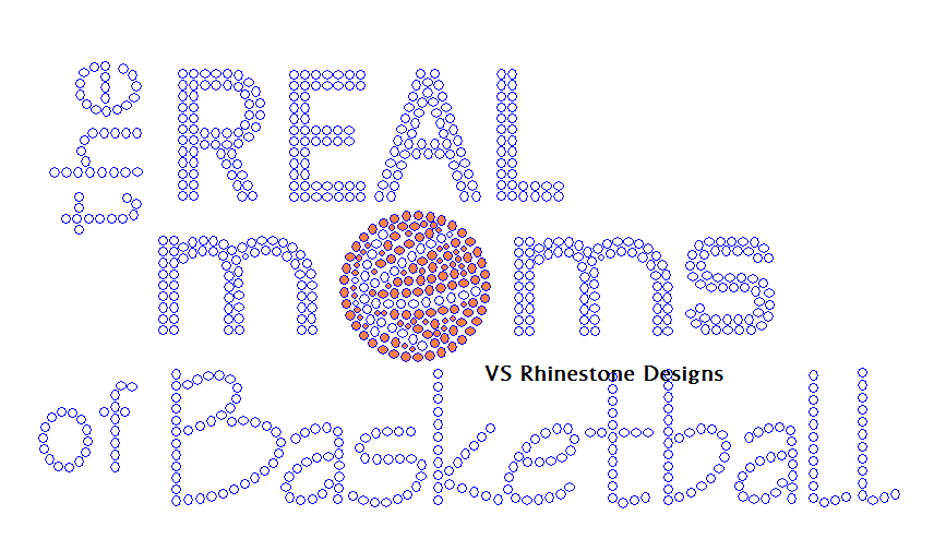 The Real Moms of Basketball Rhinestone Transfer