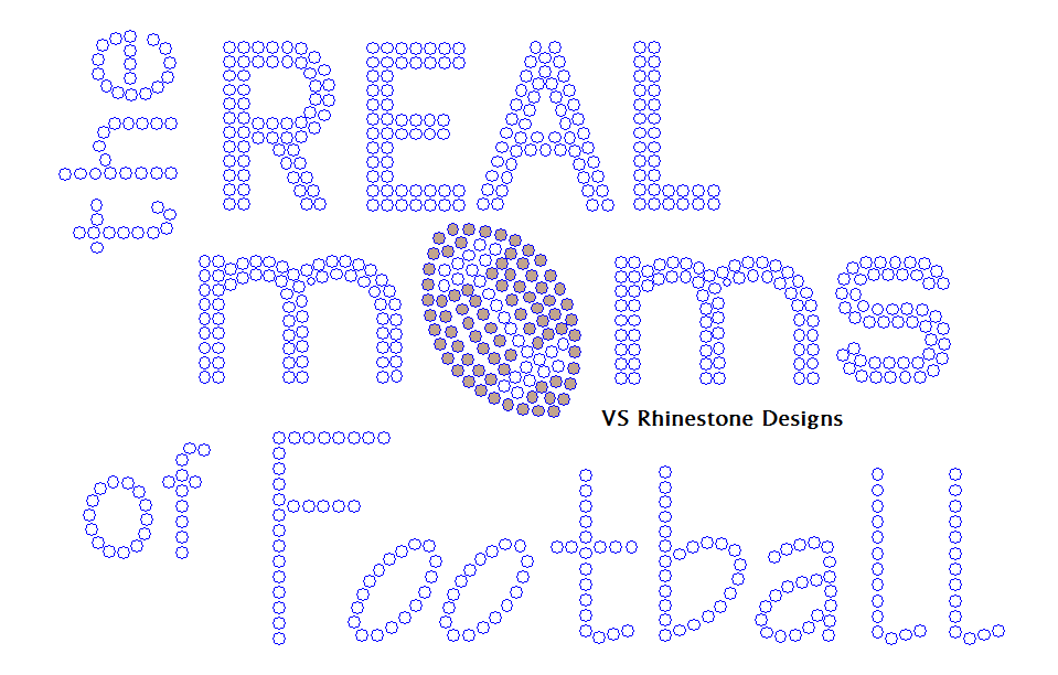 The Real Moms of Football Rhinestone Transfer