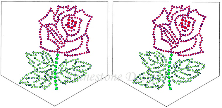 Rose Rhinestone Pocket Transfer
