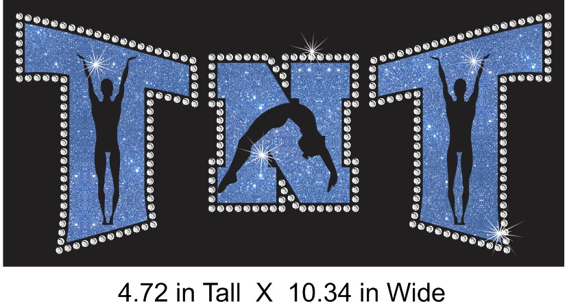 TNT Arched Figure Vinyl and Rhinestone Transfer