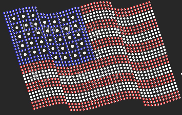 American Flag Sequin Transfer