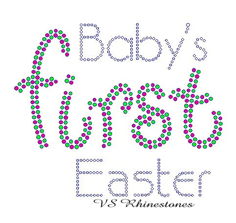 Baby's First Easter Rhinestone Transfer