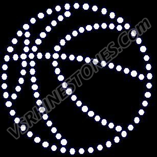 Basketball outline - small (2) - Rhinestone Transfer