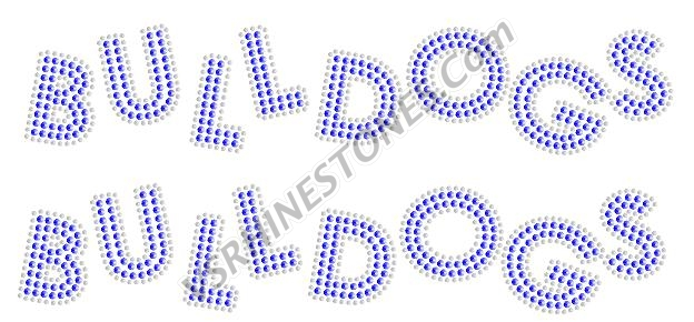 Bulldogs Sequin Word (2 per order) Purple