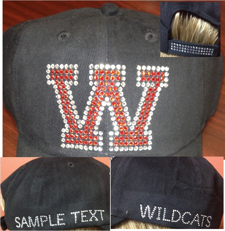 Varsity Letter Baseball Caps (12) - PLEASE MAKE SELECTIONS BELOW