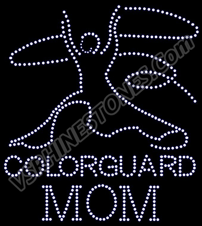 Color Guard Mom Rhinestone Transfer