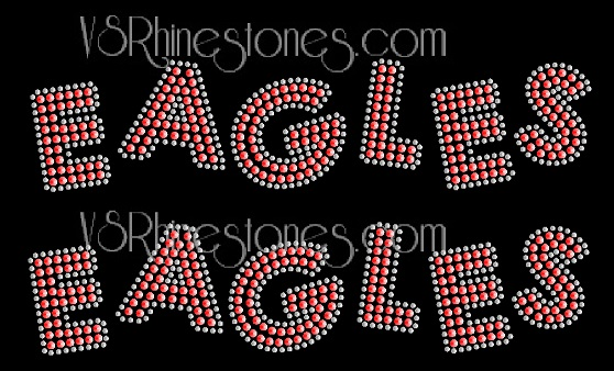 EAGLES Sequin Word (2 per order) Black