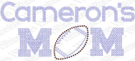 Personalized Football Mom Rhinestone CAR DECAL