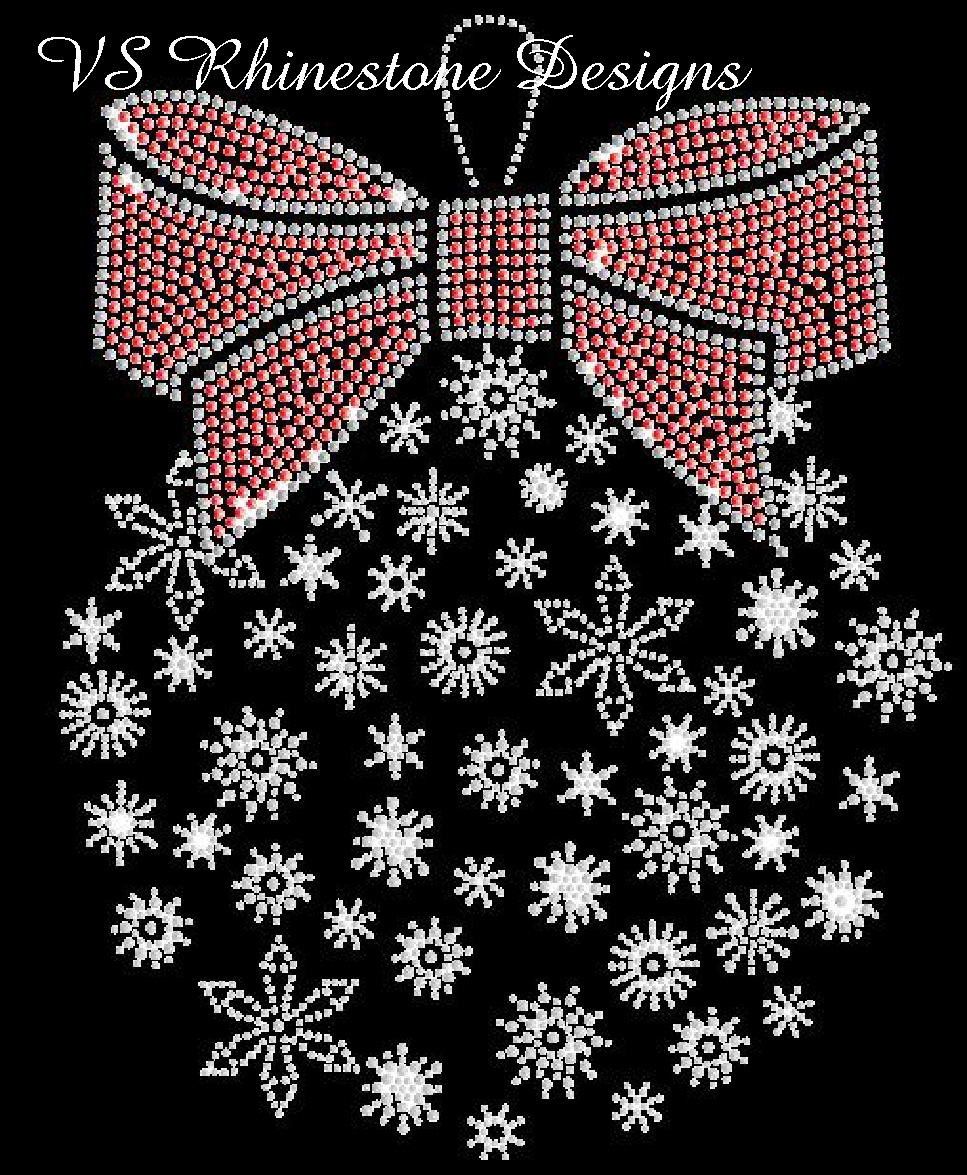 Snowflake Holiday Ornament - SEQUIN Transfer