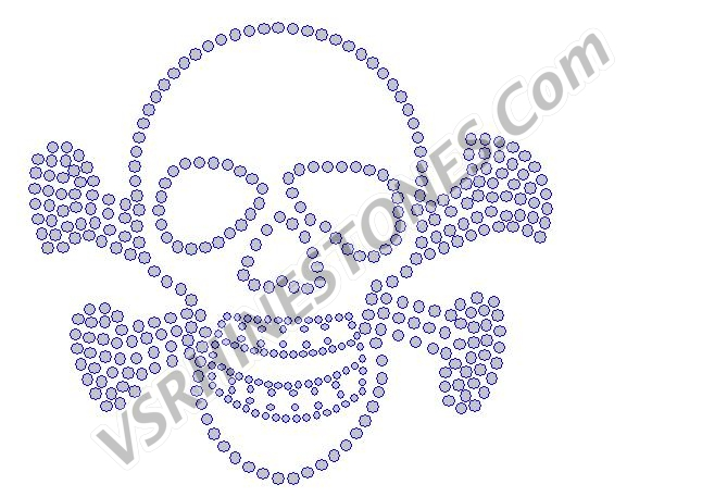 Skull and Crossbones Rhinestone Transfer - CLEARANCE