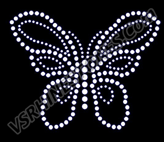 Small Butterfly Rhinestone Transfer - Set of 2