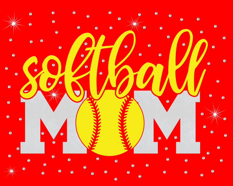 Softball Mom Vinyl with Random