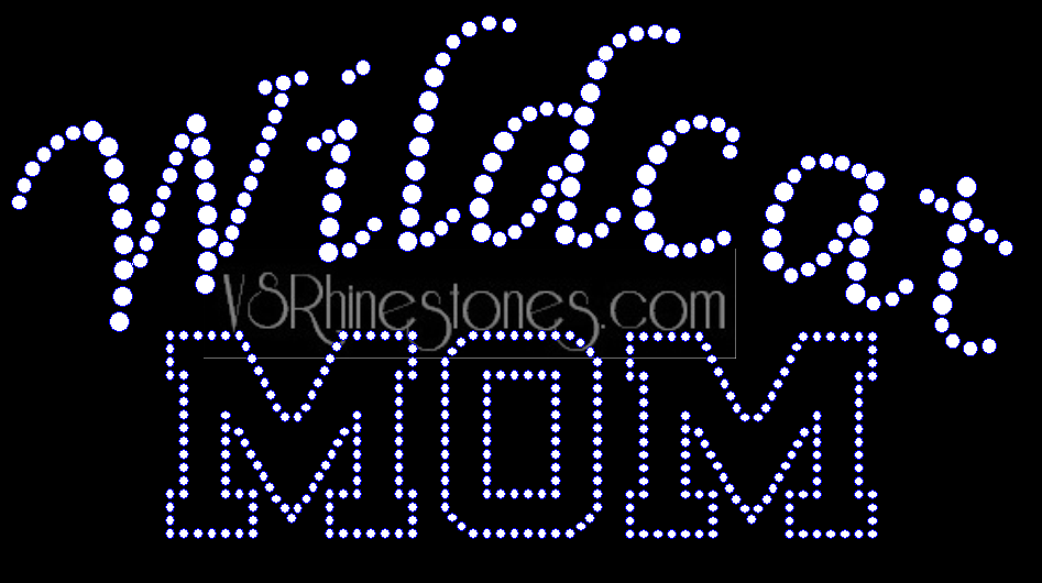 Wildcat Mom Rhinestone Transfer